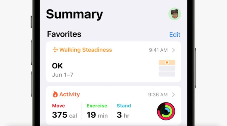 tendenze salute iOS 15
