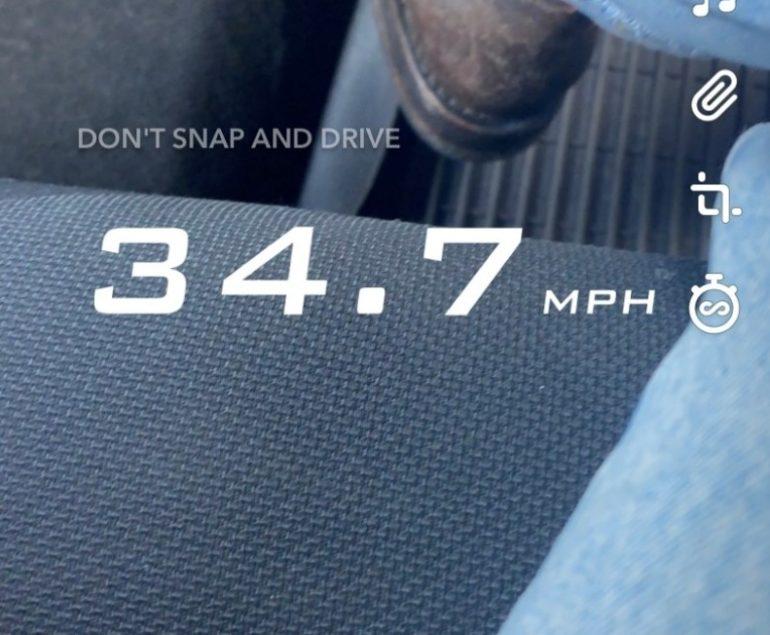 speed filter snapchat