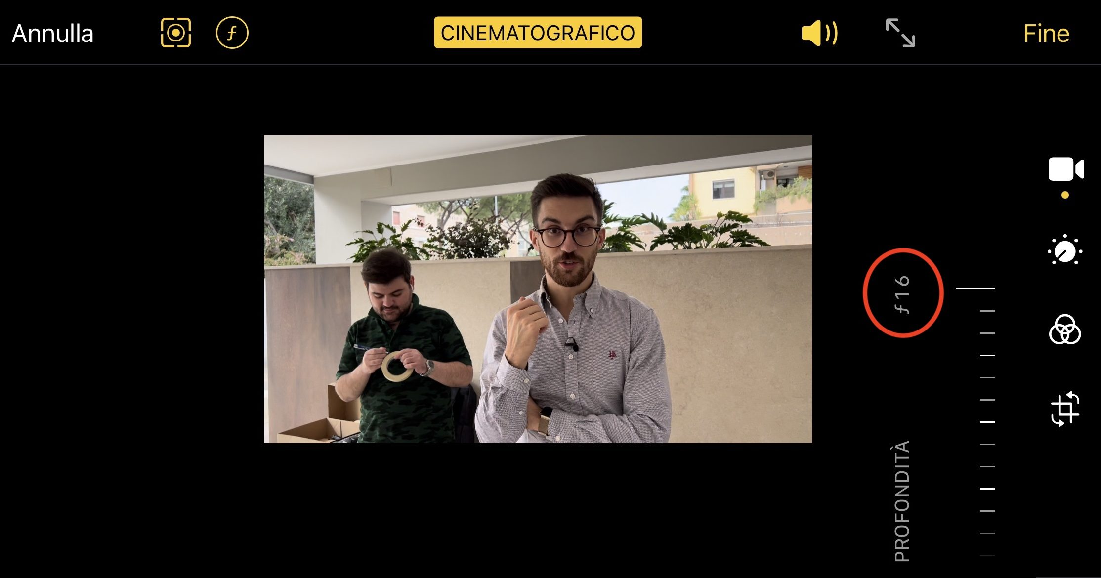 modalità cinema iphone 13