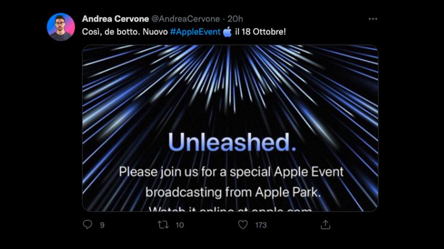 Evento Apple: su Twitter arriva l'hash …